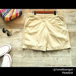 J. Crew Bermuda Chino Walking Shorts Khaki 10